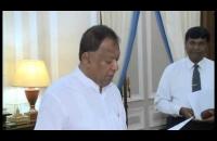 Sarath Amunugama sworn in as Minister