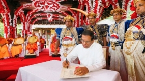 "Historic ceremony ""Uththamabiwandana"" held under the patronage of President"