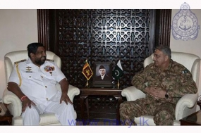 Commander of the Navy calls on Chief of Army Staff of Pakistan