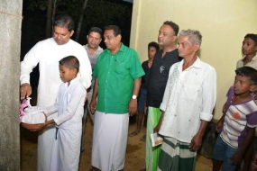 Minister opens development projects in Bentota