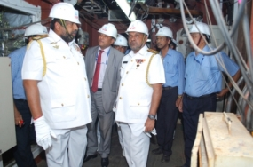 Navy Commander inspects Advanced Vessels being built for Sri Lanka Navy