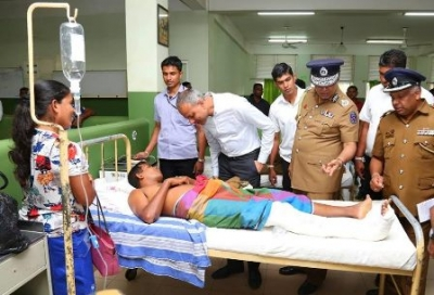 Law and Order Minister Visits injured police and STF officers