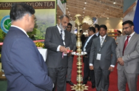Focus on 'Pure Ceylon Tea' packed in Sri Lanka with Lion Logo