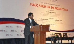 "Deputy Foreign Minister addresses Public Forum on ""The Indian Ocean"""