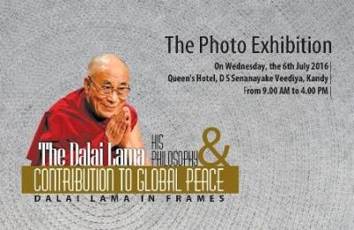 The Dalai Lama photo exhibition in Kandy