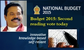 Budget 2015: Second reading vote today