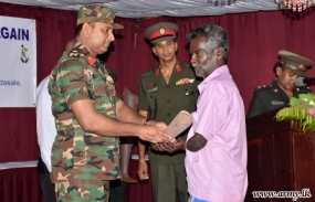 Army facilitates distribution of artificial limbs to civilians in Mullaithivu