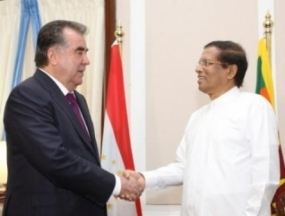 Sri Lanka  ready to expand Trade and Economic Cooperation – President tells his Tajikistan counterpart