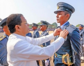Air Force officers pass out