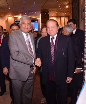 PM Wickremesinghe and PM Nawaz Sharif hold discussions