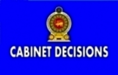 DECISIONS TAKEN BY THE CABINET OF MINISTERS AT ITS MEETING HELD ON 20-12-2016