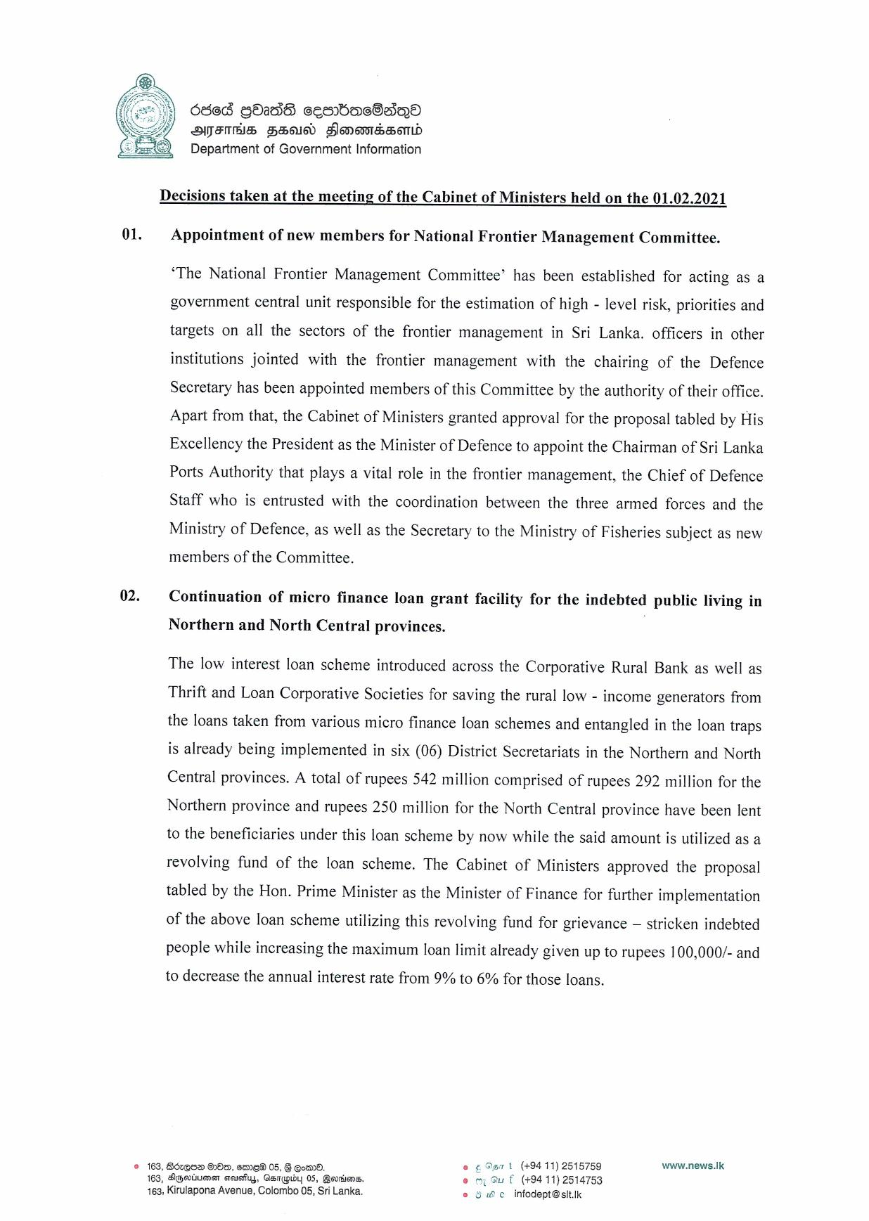 Cabinet Decision on 01.02.2021 English page 001