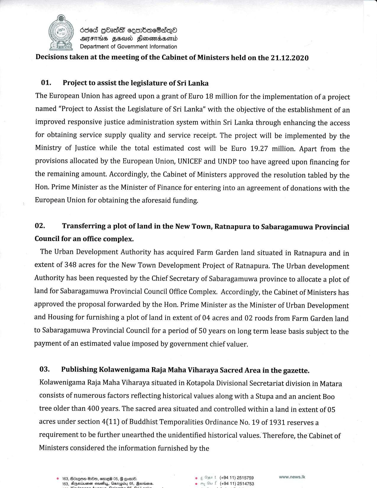 Cabinet Decision on 21.12.2020 English page 001