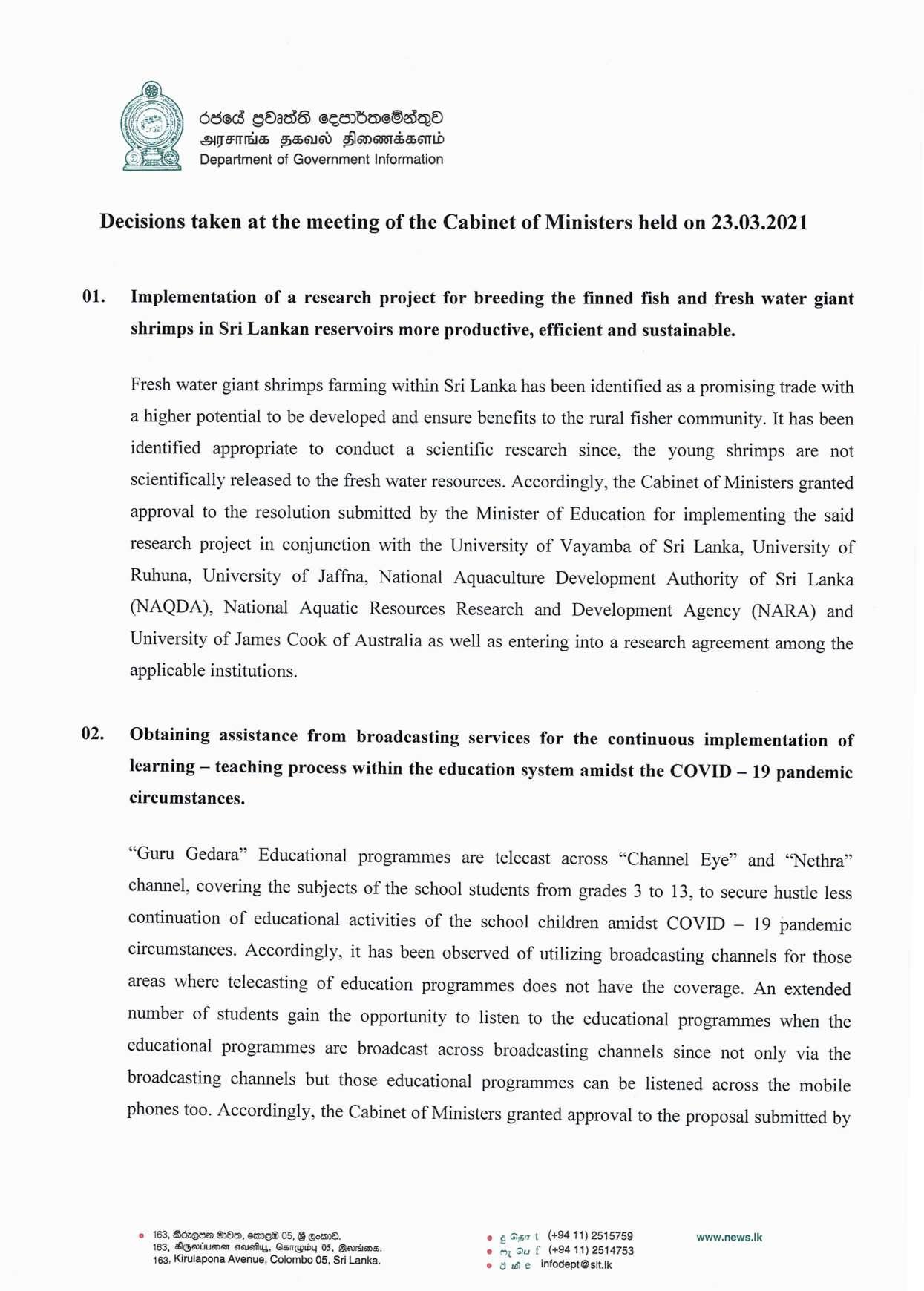 Cabinet Decision on 23.03.2021 English page 001