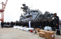 Indian Ship 'Kirch' arrives at the Colombo Port_2