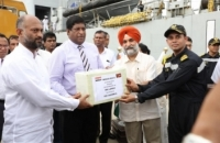 Second Indian ship with relief goods arrive_1