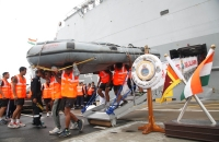 The Third Indian Naval Ship Carrying Relief Goods, Arrived @ the CMB Port Today (30th May)_1