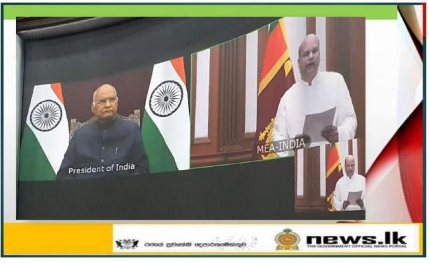 High Commissioner of Sri Lanka to India Milinda Moragoda presents Credentials to the President of India Shri Ram Nath Kovind