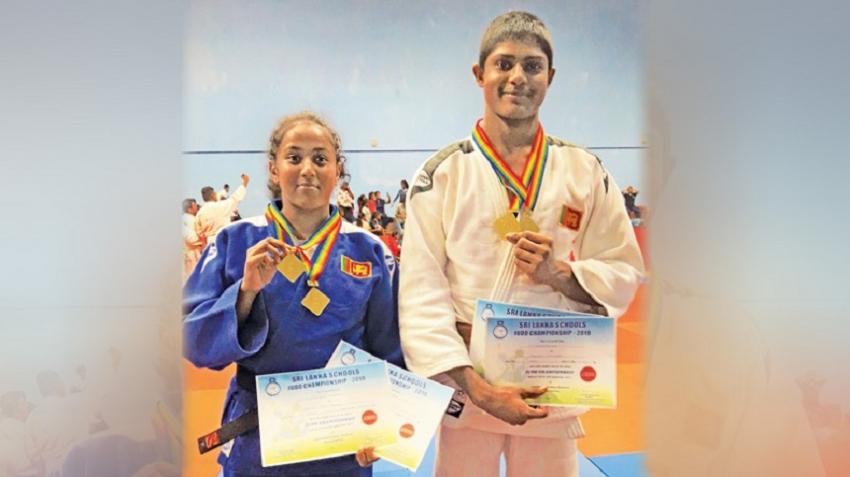 Sakindu and Yameena judo champions