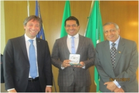 State Minister Senasinghe speaks to Italian Chambers in Milan