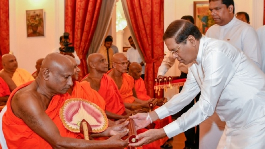 President  rendering great service to the country and  Sasana' –      Anunayake  Thero