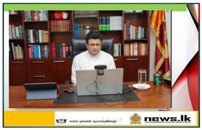 Minister Udaya Gammanpila addresses the CERAWeek Energy Summit