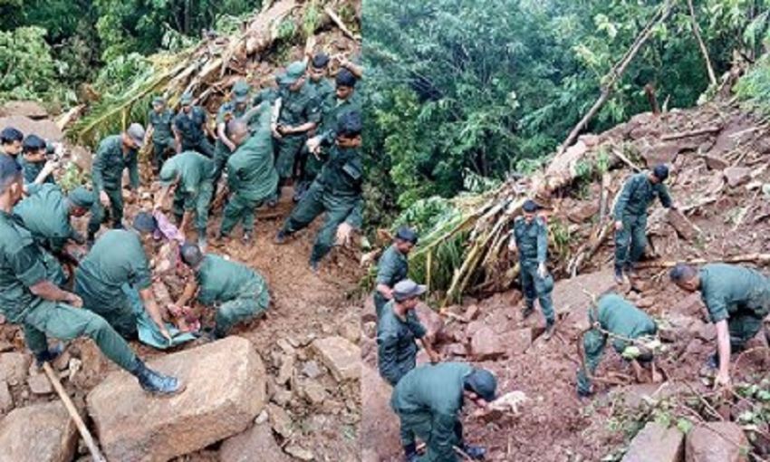 Bodies of three people went missing after landslide in Walapane recovered