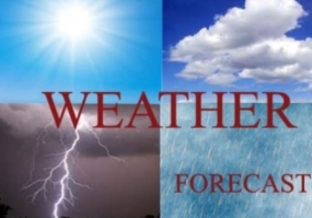 Cloudy skies, strong winds and rains expected