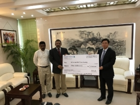 Chinese Red Cross Society donates USD 100, 000 as flood relief