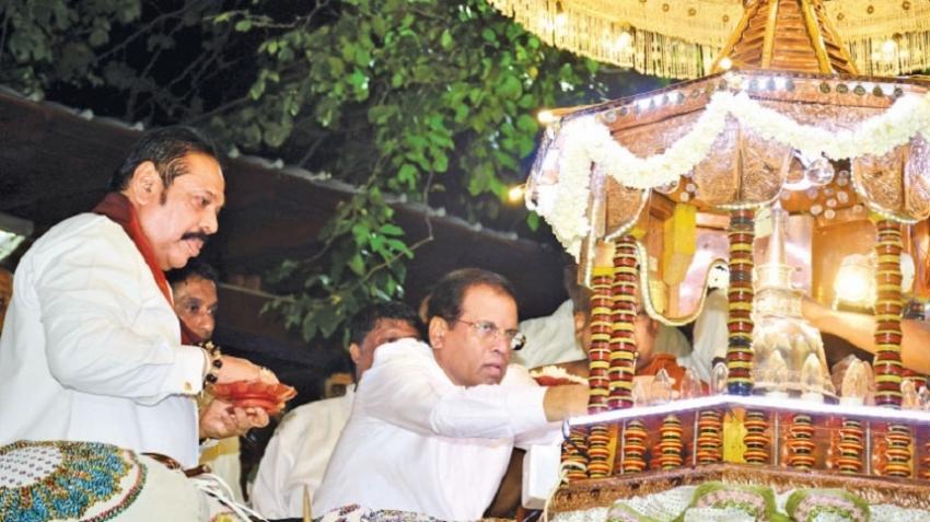 President at Nawam Perahera