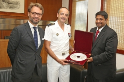 Rear Admiral Didier Piaton meets State Minister