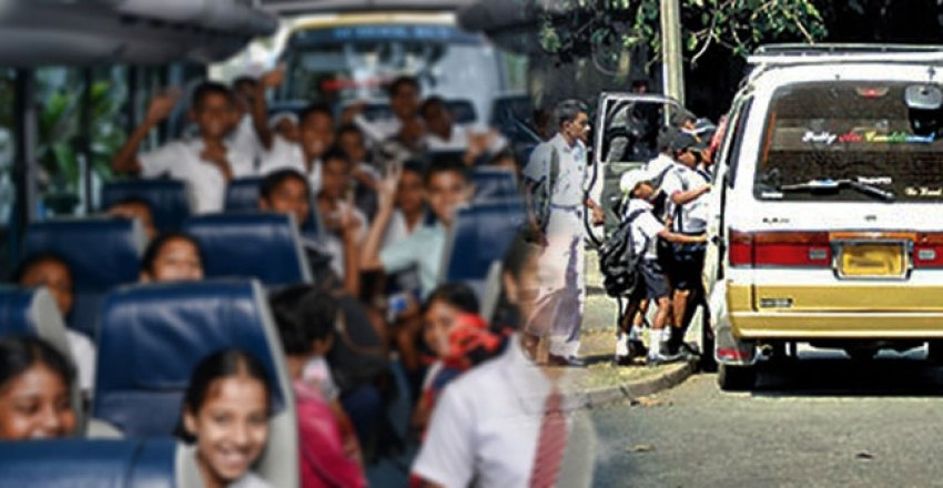 Parking locations allocated in Colombo  school vans and buses