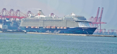 Cruise liner docks with 2,430 tourists