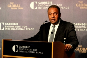 Foreign Minister Samaraweera speaks at Carnegie Endowment for International Peace in Washington