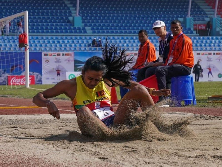 Golds in Long Jump and Wushu for Sri Lanka