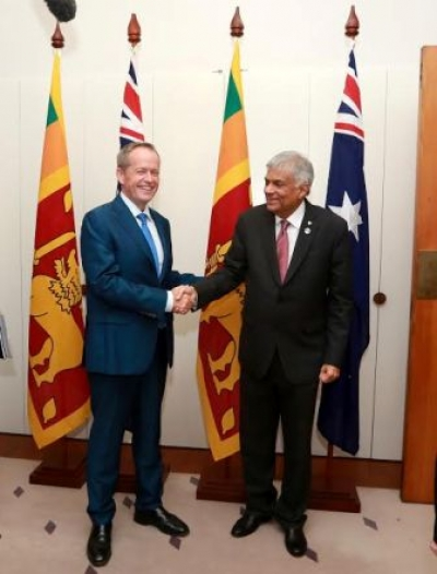 Australian Opposition Leader meets PM Wickremesinghe