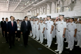 State Minister and Secretary visit Japanese Naval ships