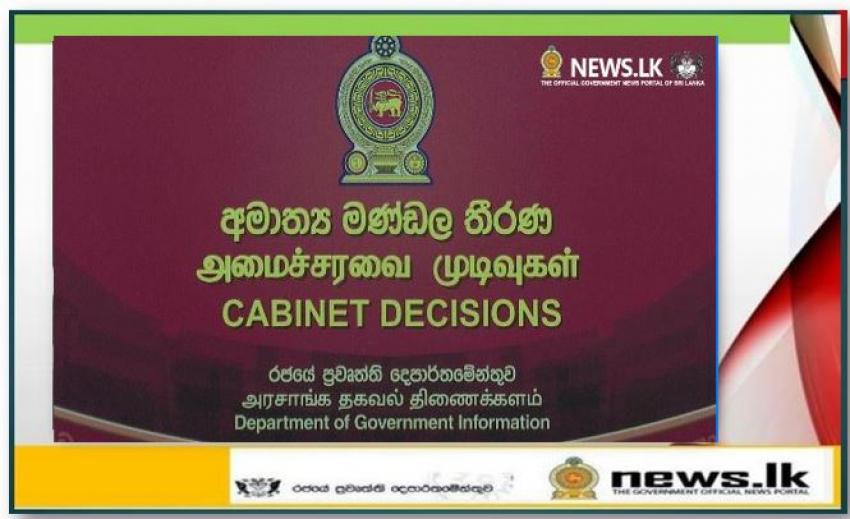 Cabinet Decisions- 06.09.2021