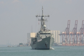 Royal ANS 'HMAS Newcastle' arrives at port of Colombo