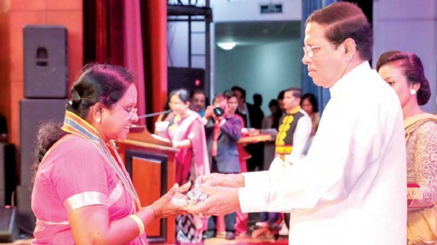 Jamunadevi feted for empowering conflict-affected women