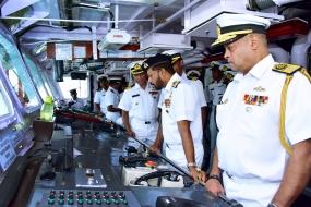 Navy Commander visits new Coast Guard OPV