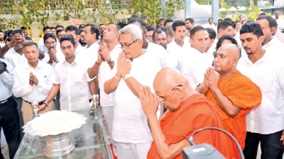 President at Abhayaramaya Temple