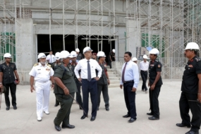 Secretary inspects Defence Headquarters project