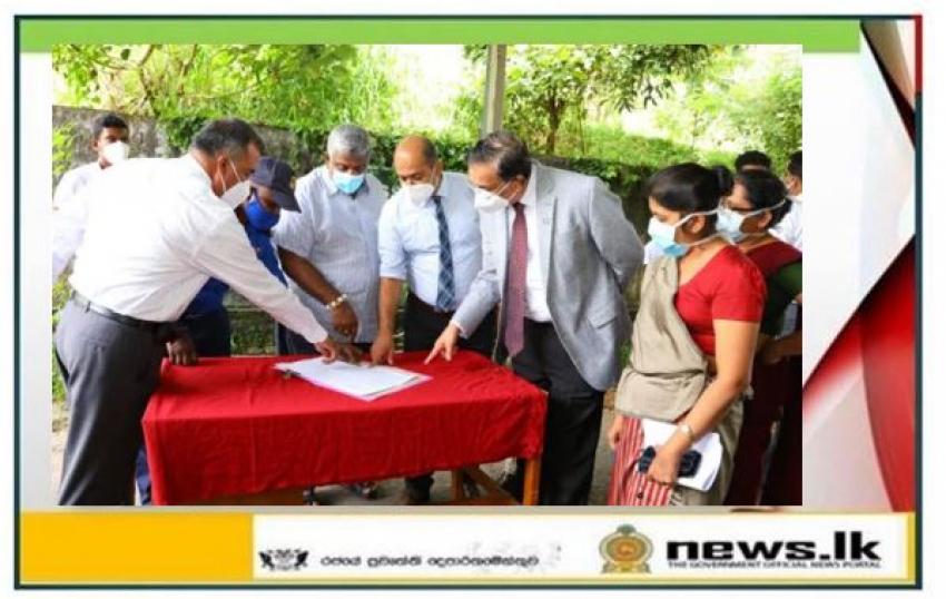Construction of Werellawatta Covid-19 Treatment Center begins