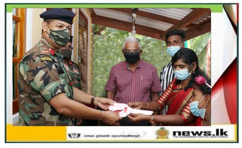 Troops with Southerner's Support Build New Homes for LTTE Woman Combatant & Deserving Family in Jaffna