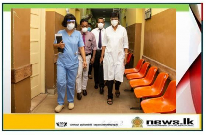State Minister Sudarshini Fernandopulle visits Gampaha District Hospital - instructs to maximize Covid-19 treatment facilities