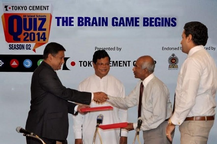 Tokyo Cement-  Education Ministry - Swarnavahini Sign MOU for All Island Schools' Quiz 2014