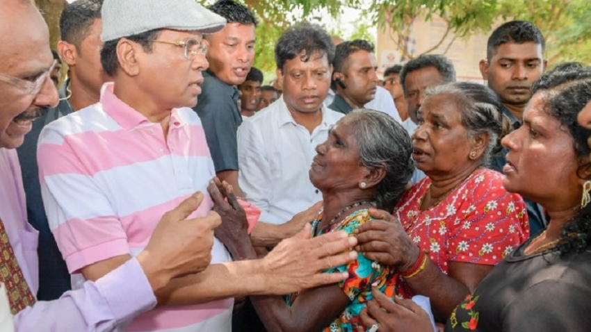 President opens Iranamadu tank; fulfilling promises to farming community in North