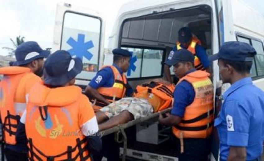 SLNS Gajabahu brings ill fisherman ashore for treatment