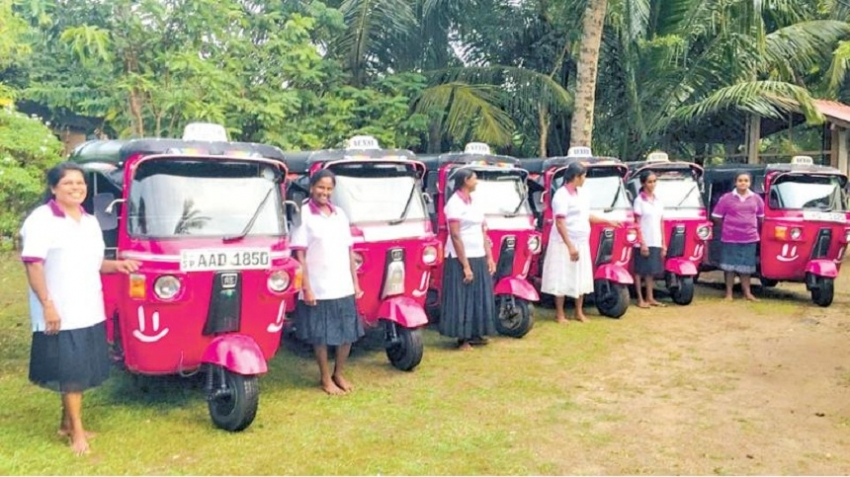 Tuk-tuk women  power of Sri Lanka